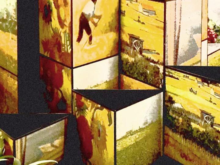 《秋日油彩》互动艺术装置